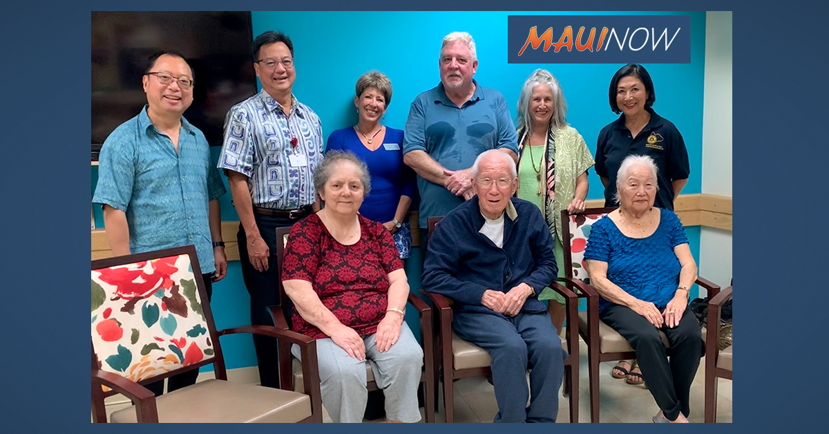Rotarians Donate Dining Room Chairs to Maui Nursing Home