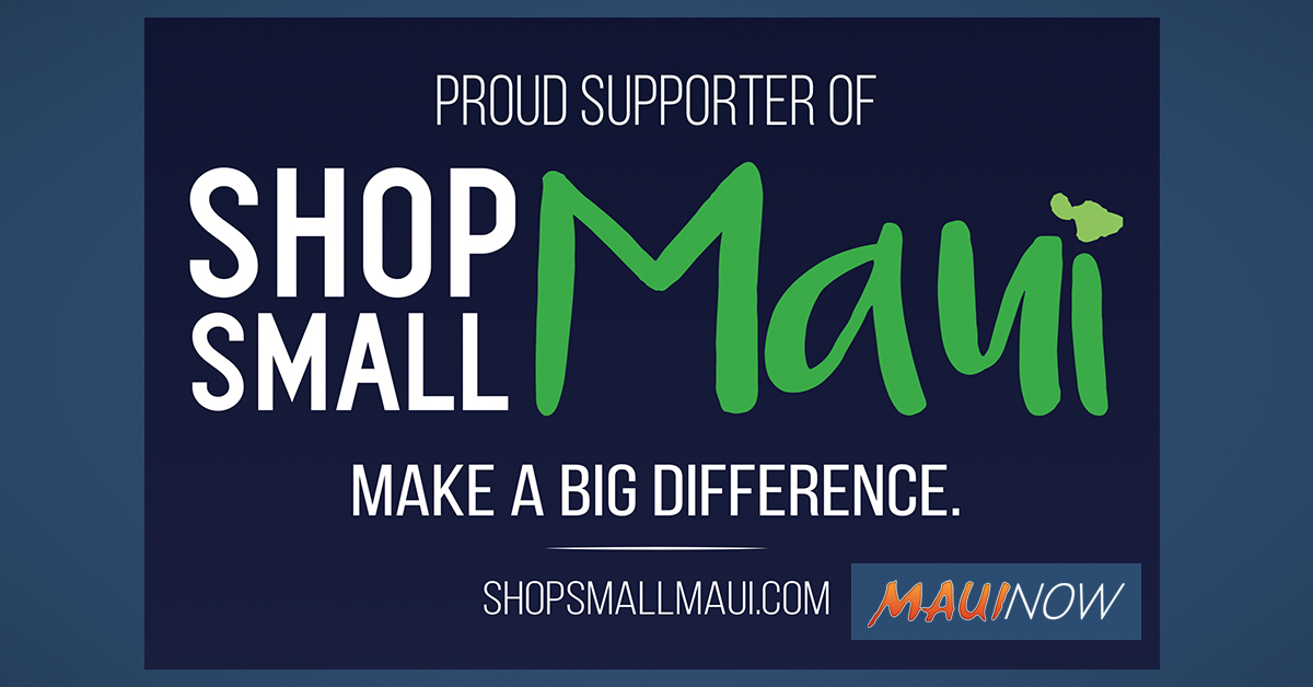 Shop Small Maui Happening Nov. 30
