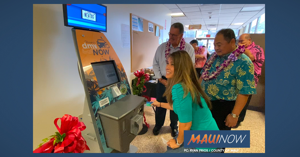 New Self-Service Kiosk for Vehicle Registrations at Maui County Building