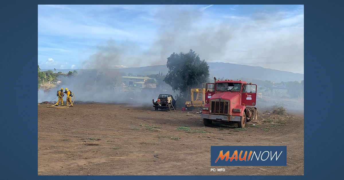 Abandoned Vehicles Burned in Pi'ihana Fire in Wailuku, Maui