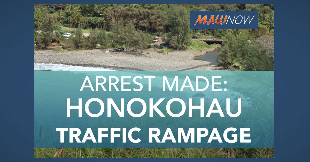 Woman Arrested Following Traffic Rampage in Honokōhau Valley