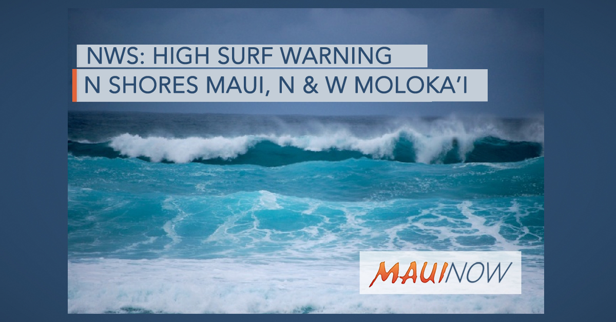 High Surf Warning Extended to Friday Morning