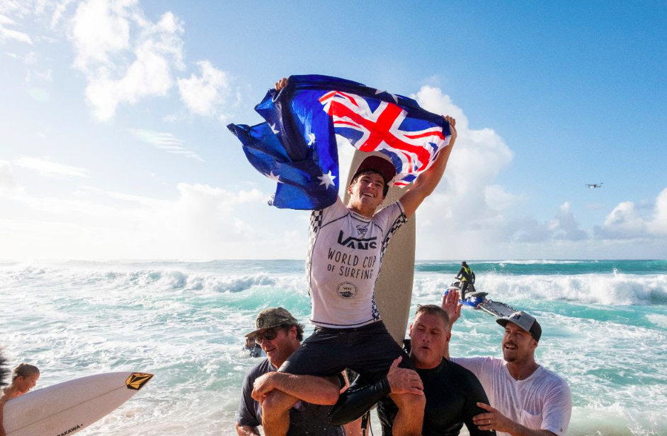 Robinson Captures Vans World Cup of Surfing