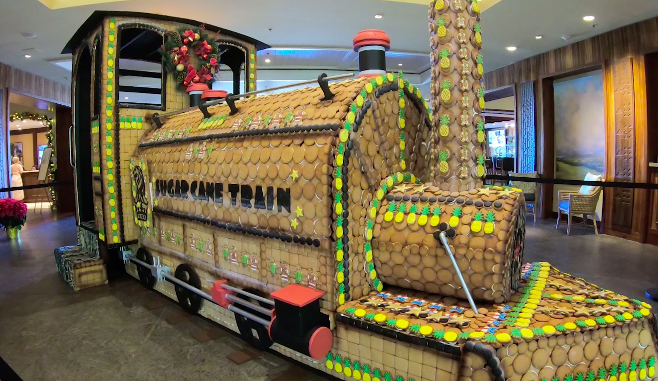 WATCH: Ritz-Carlton Kapalua Unveils Life-Size Gingerbread Train