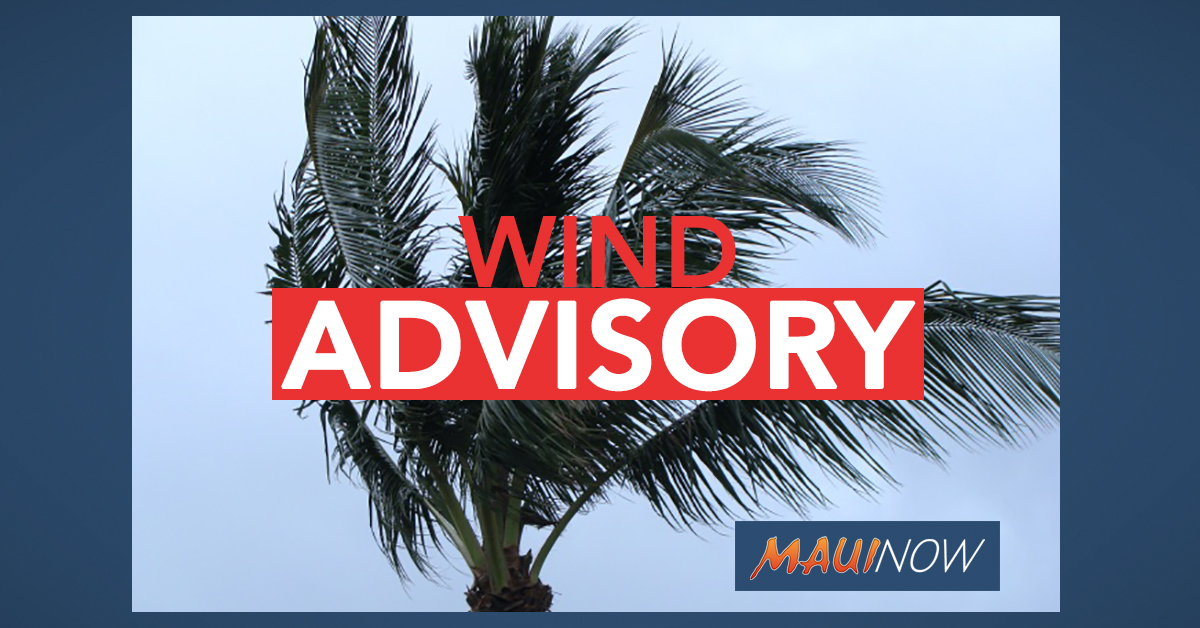 Wind Advisory for Lānaʻi Until 9 p.m.