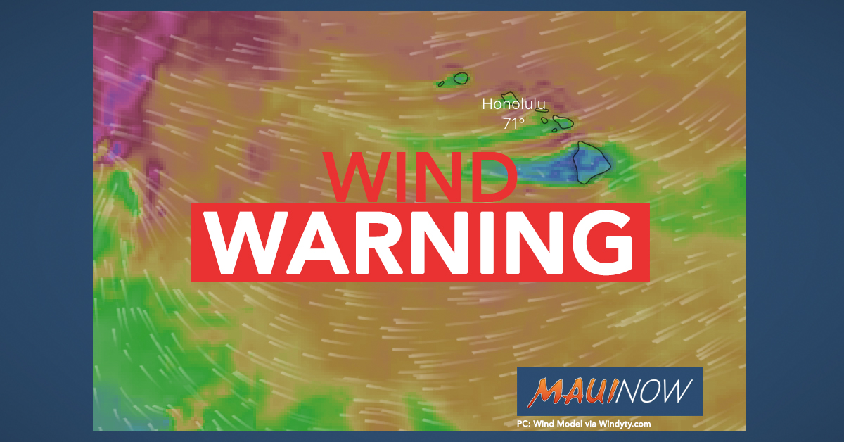High Wind Warning to Bring 60 mph Gusts Across Islands
