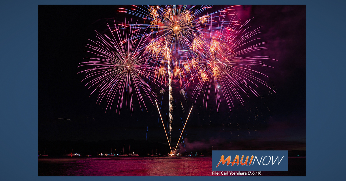 26 Aerial Fireworks Recovered, 3 Citations Issued During Maui Forth of July Fireworks Enforcement