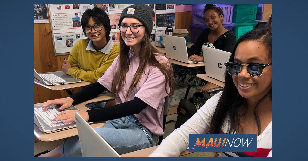 Maui High School Program Gifted With 33 Google Chromebooks