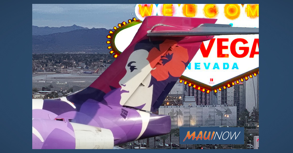 Lucky Drawing to Whisk Away Winner on Inaugural Hawaiian Airlines Maui to Las Vegas Flight