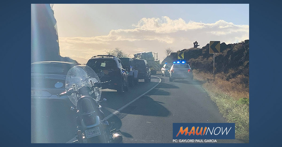 Honoapi'ilani Rollover Accident Cleared
