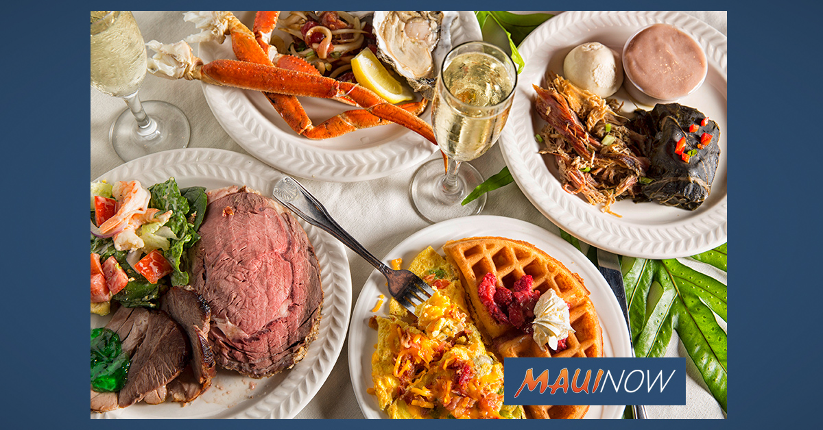 Kāʻanapali Beach Hotel Hosts Holiday Meals on Christmas Day and New Year's Eve