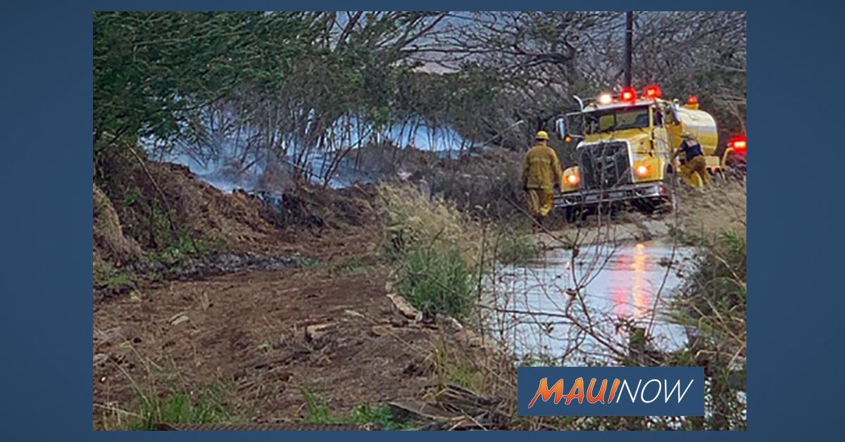 Christmas Day Fire Burns 1.5 Acres Near Ameron Quarry