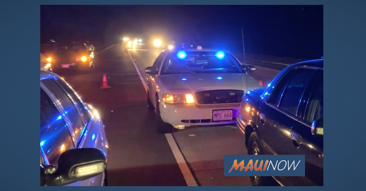 "Maui's ""Drive Sober or Get Pulled Over"" Campaign Runs Through the New Year's Weekend"