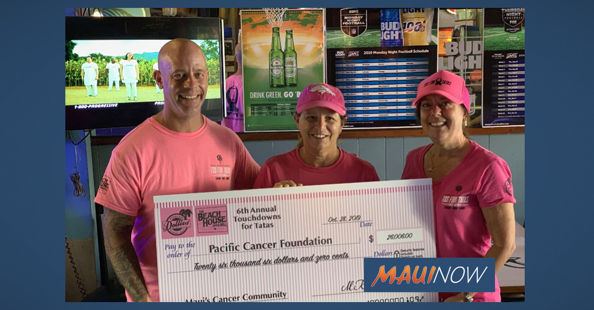 6th Annual Touchdown for Tatas Raises $26K for Pacific Cancer Foundation