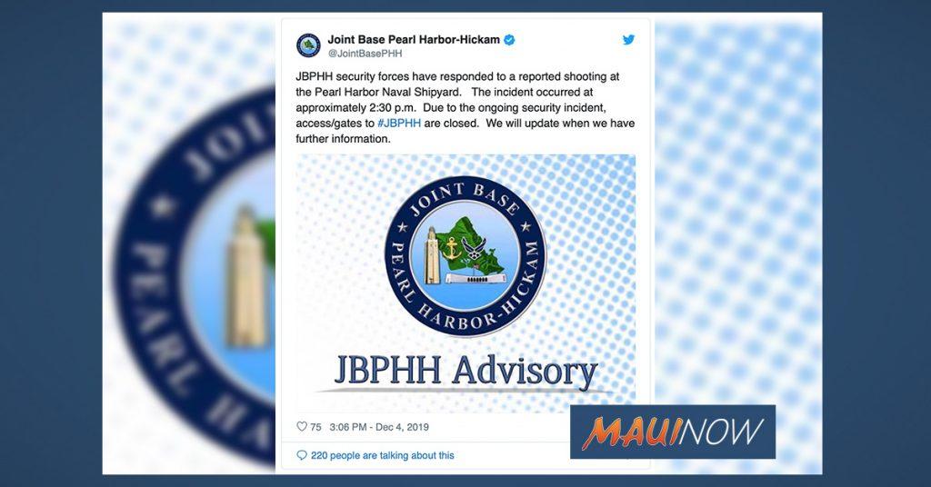 Maui Now: Lockdown at Pearl Harbor Naval Shipyard Amid Reported Shooting