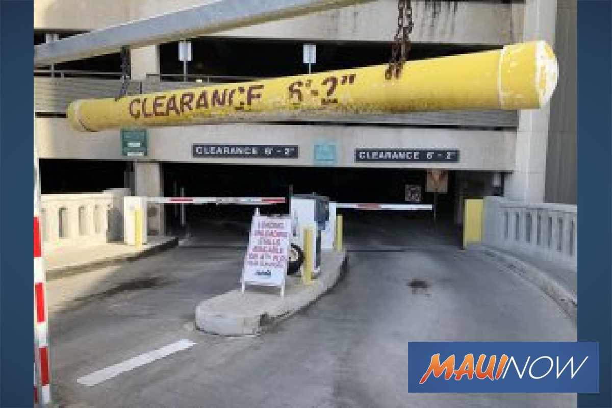 New Clearance Pipes at Honolulu Airport to Deter Over Height Vehicles
