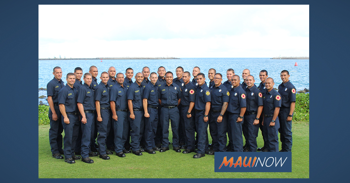 27 Recruits Graduate into Maui Fire Department Ranks