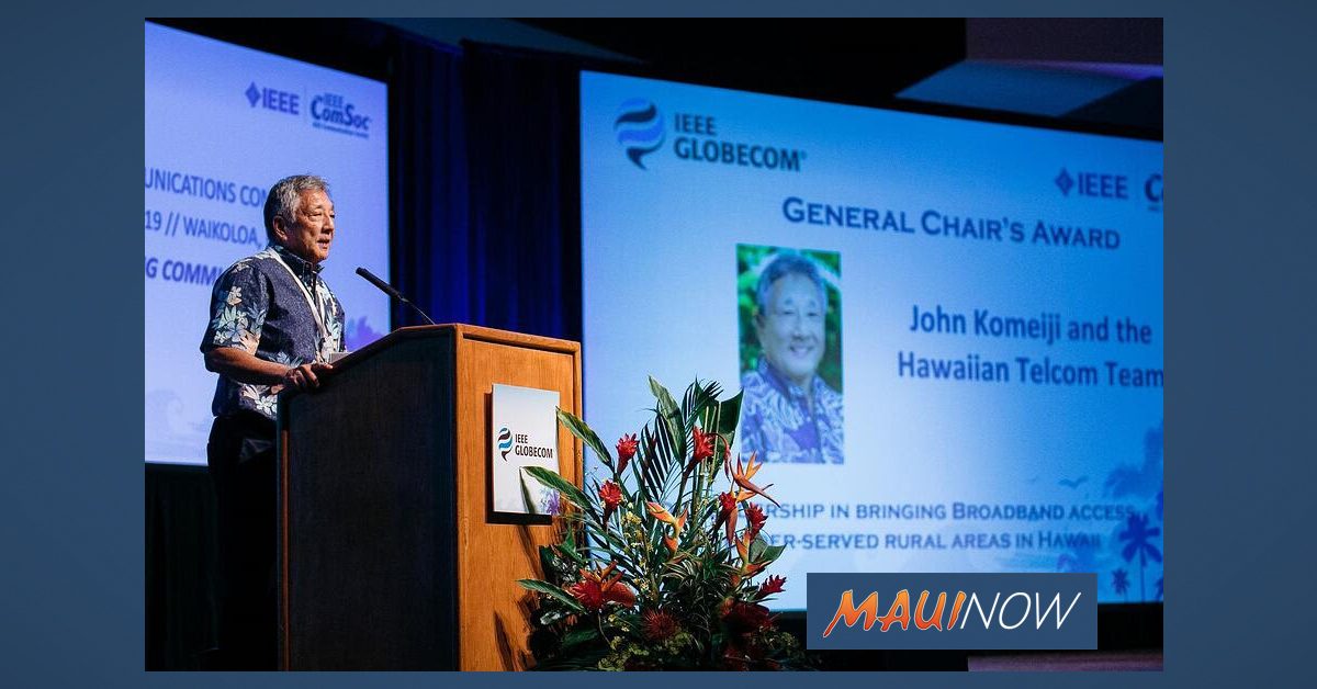 Hawaiian Telcom Honored for Commitment to Rural Broadband Deployment