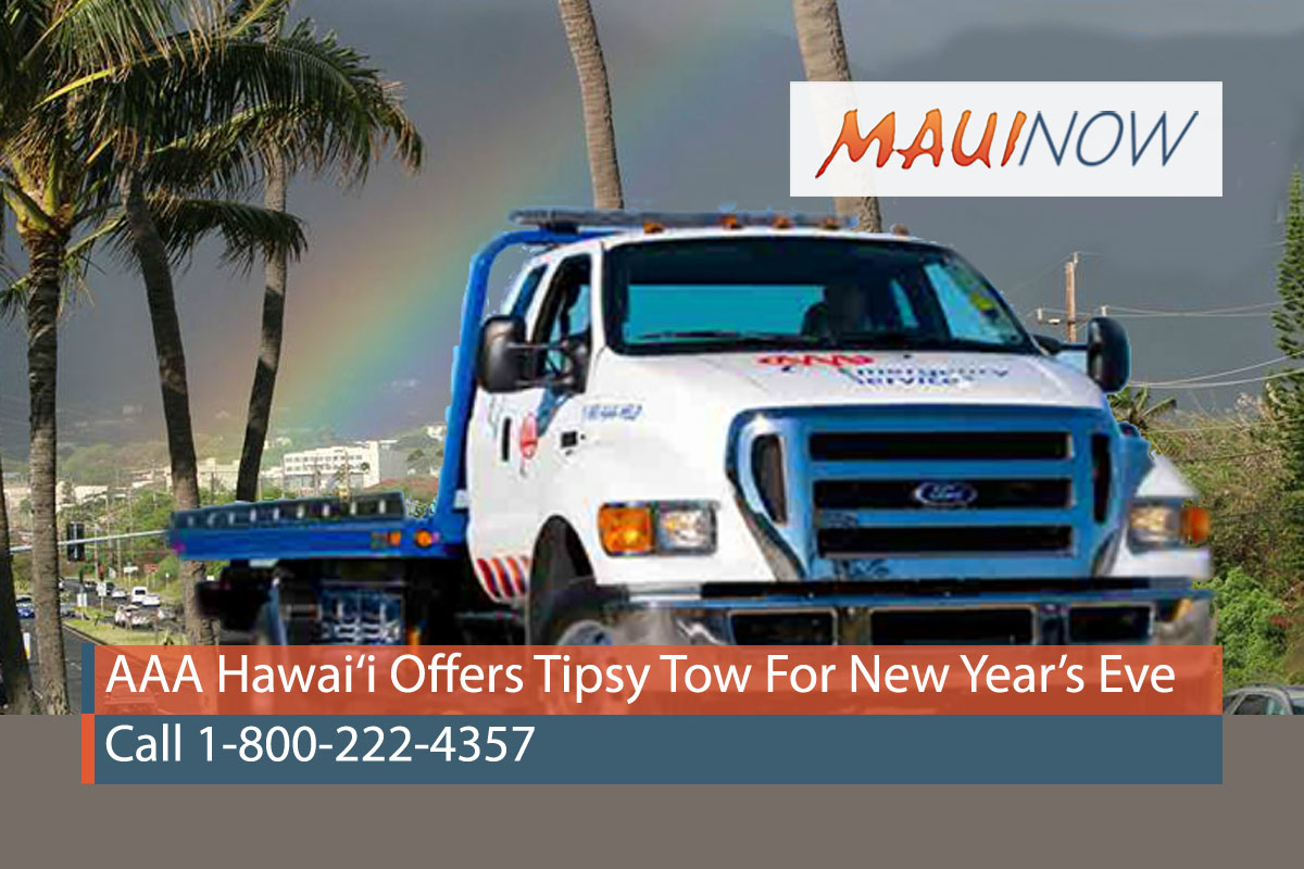 AAA Hawai'i Offers Tipsy Tow Service For New Year's Eve