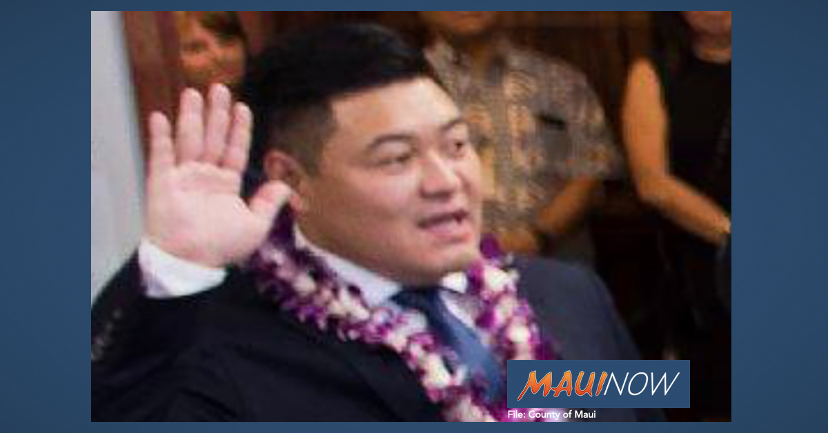 Tyson Miyake Named New Chief of Staff on Maui