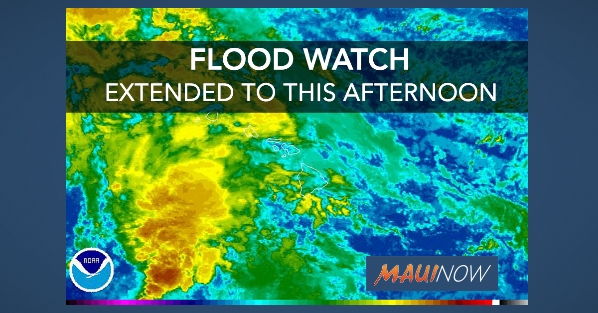 Flood Watch Extended Through This Afternoon For All Islands
