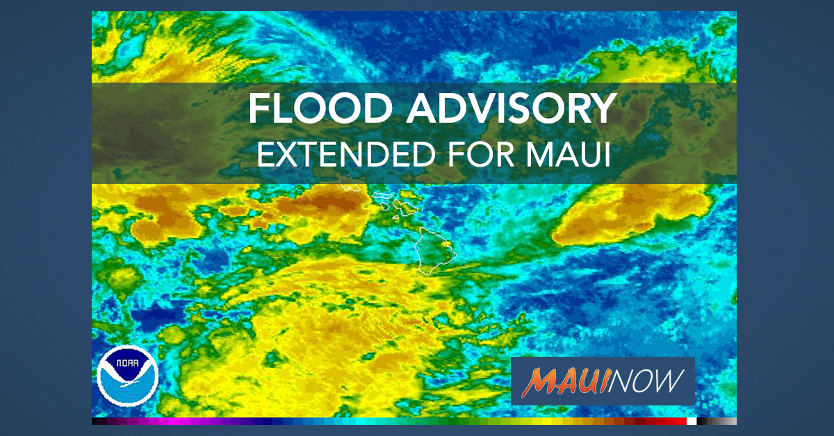 Maui Flood Advisory Extended to 2 p.m.