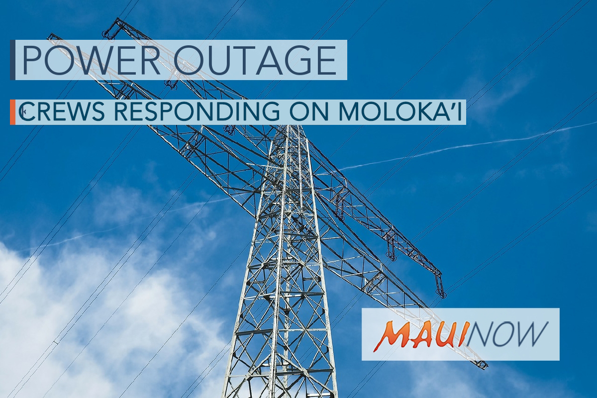 UPDATE: Hawaiian Electric Working to Repair Downed Pole/Lines on Moloka'i