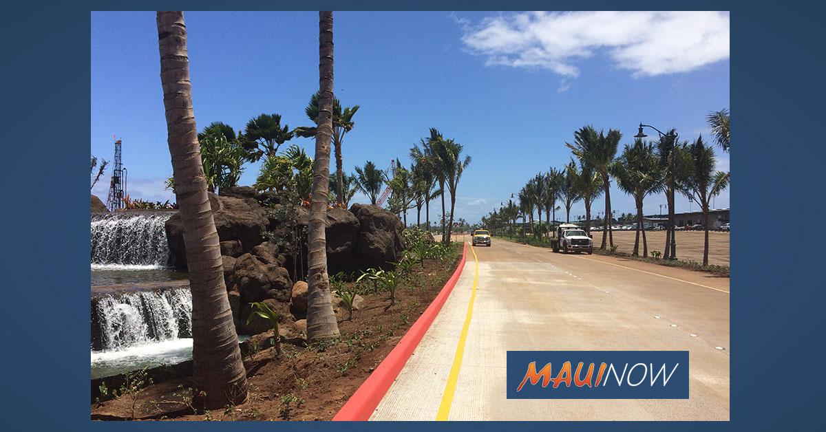 Roadwork at Kahului Airport Starts Monday, Jan. 27
