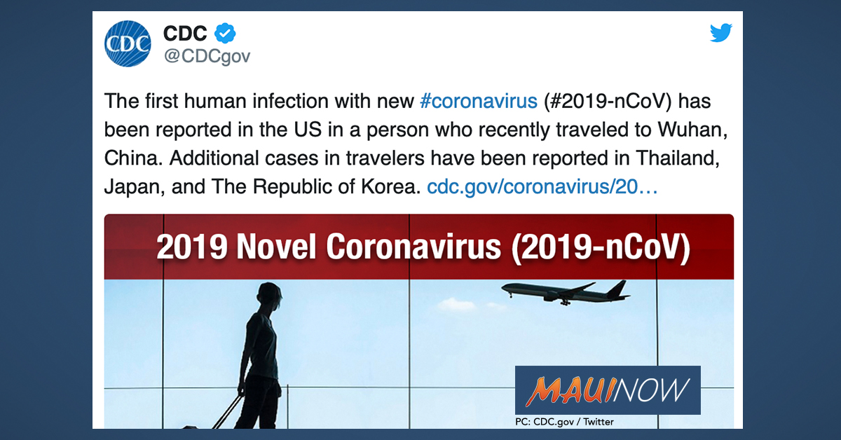 Hawai'i Health Officials Offer Guidance on Novel Coronavirus Outbreak in China