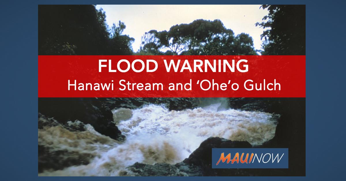 Flood Warning for Maui Until 9:45 a.m.