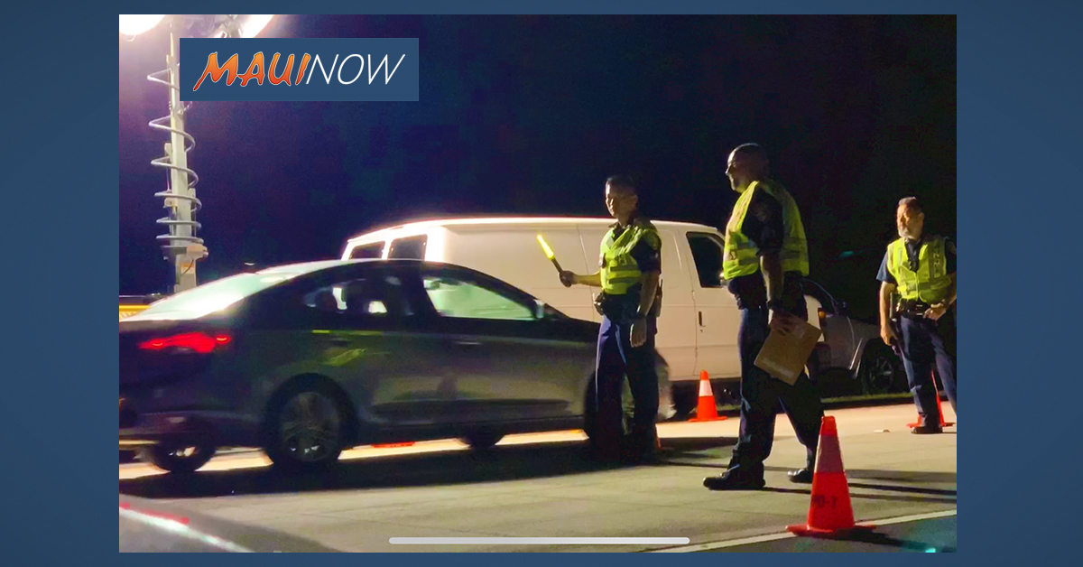 Maui Police to Conduct Halloween Impaired Driving Enforcement Campaign