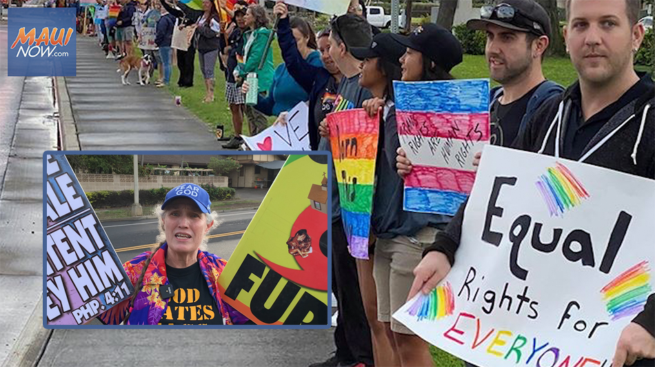 Counter-Protest Overshadows Westboro Baptist Church Demonstration on Maui