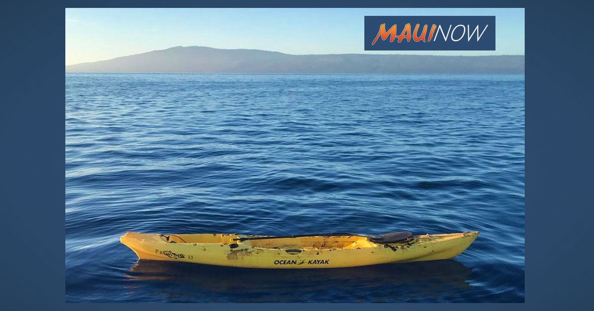 Owner Sought of Adrift Kayak off Moloka'i
