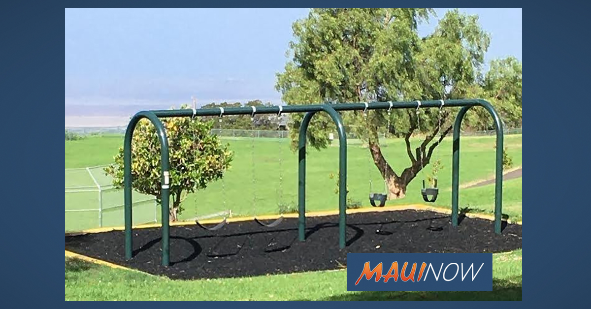 New Kula Park Playground to Open at Noon Tuesday, Sept. 1