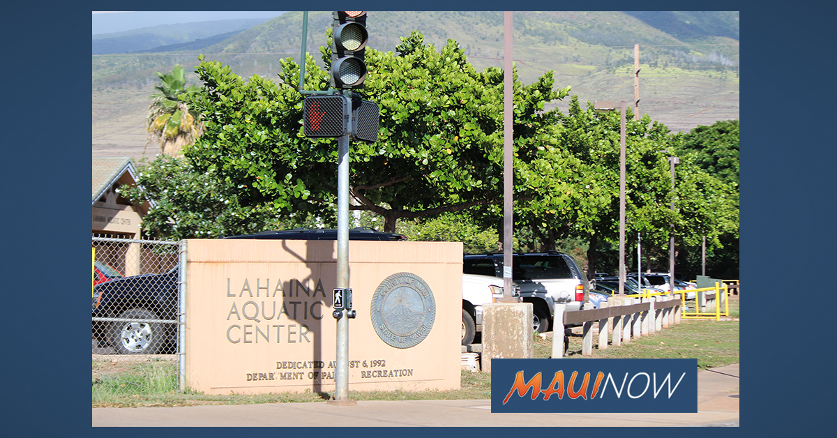 Lahaina Aquatic Center Closed Sunday for Cleaning of Brush Fire Ash & Debris