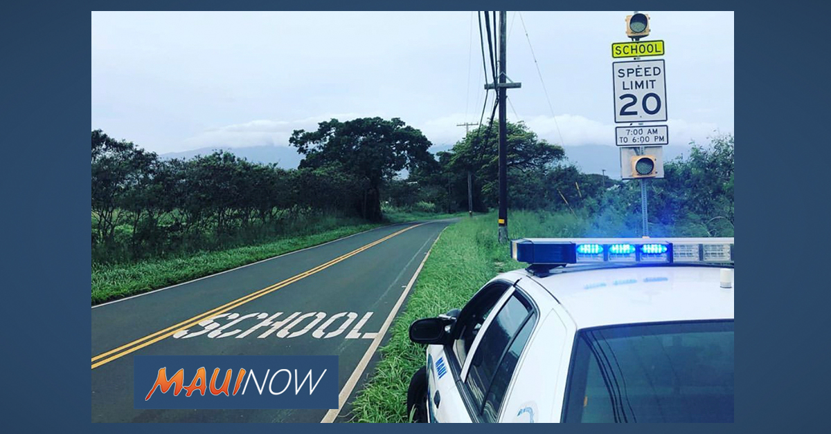 Maui Police School Zone Traffic Enforcement Underway