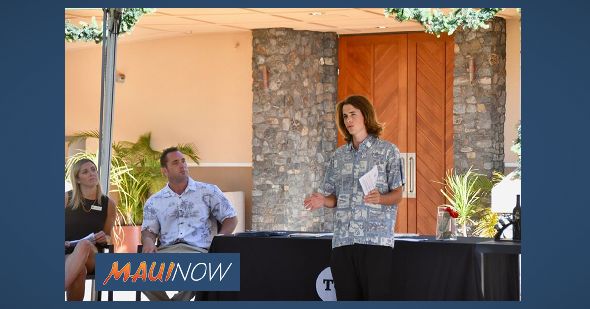 "Maui Student's ""100 Realtors Who Care"" Program Reaches 95 Donors"