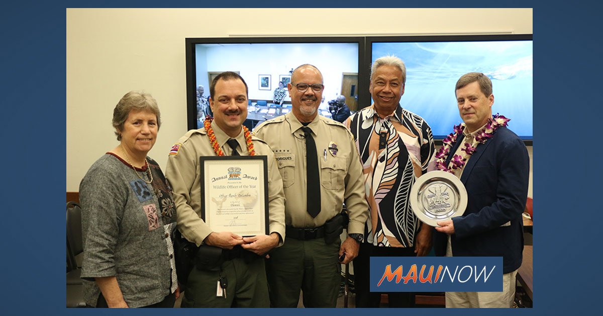Maui Conservation Officer Recognized by International Organization