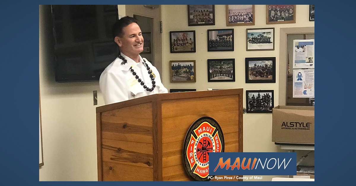 Maui Fire Department Promotes Michael Werner to Assistant Chief