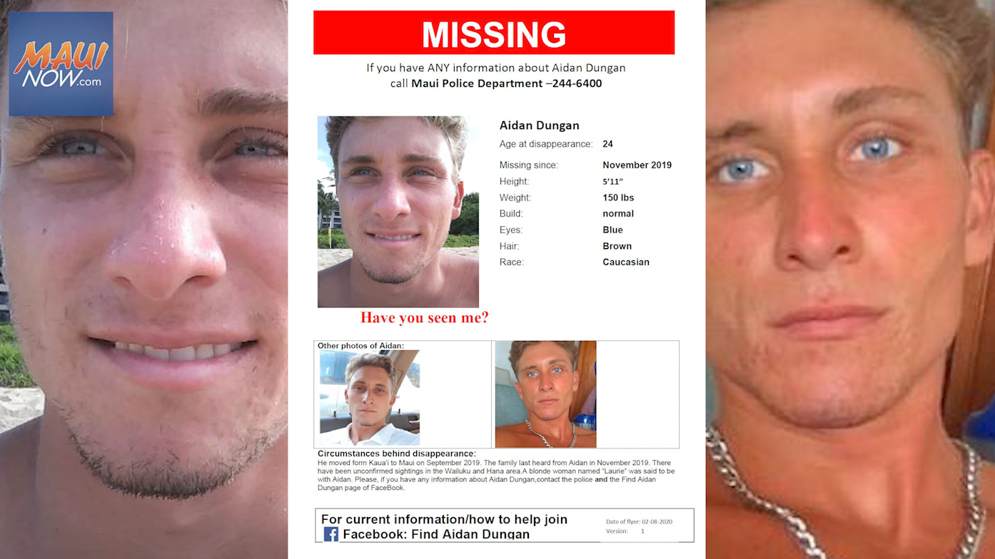 Parents of Missing Man, Aidan Dungan, Issue Plea for Answers