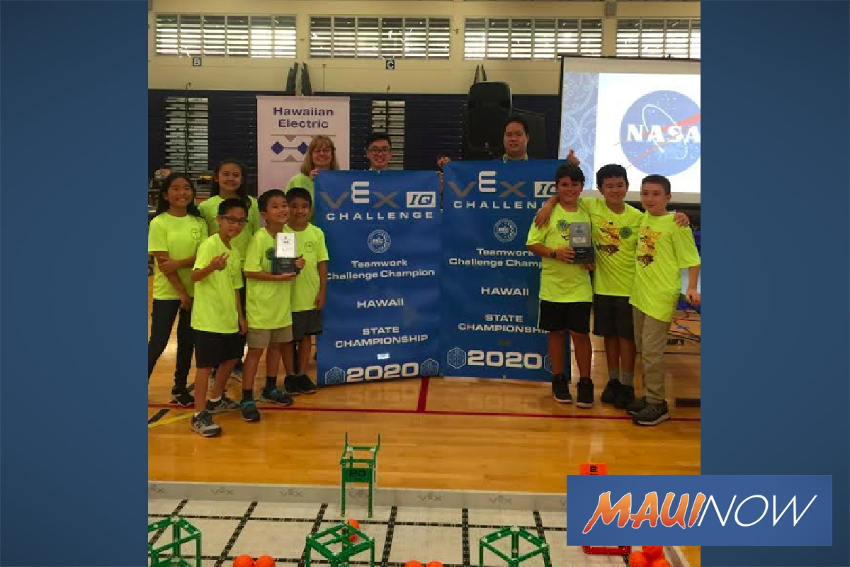Maui Keiki Take Top Honors at Robotics Tournament