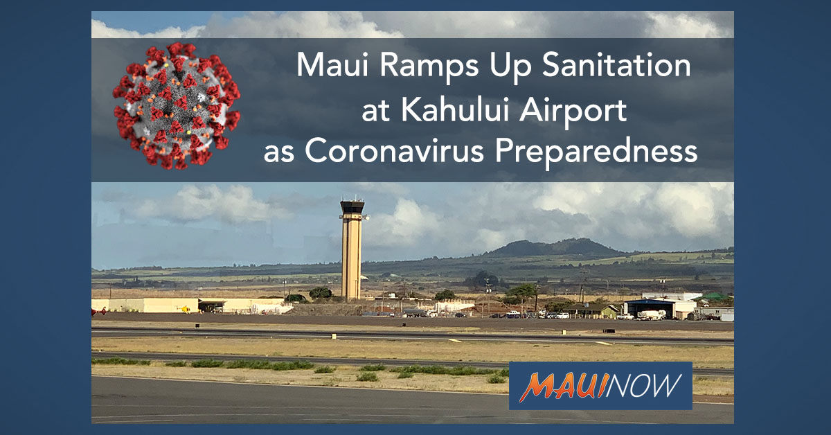 Maui Ramps Up Sanitation at Kahului Airport as Coronavirus Preparedness