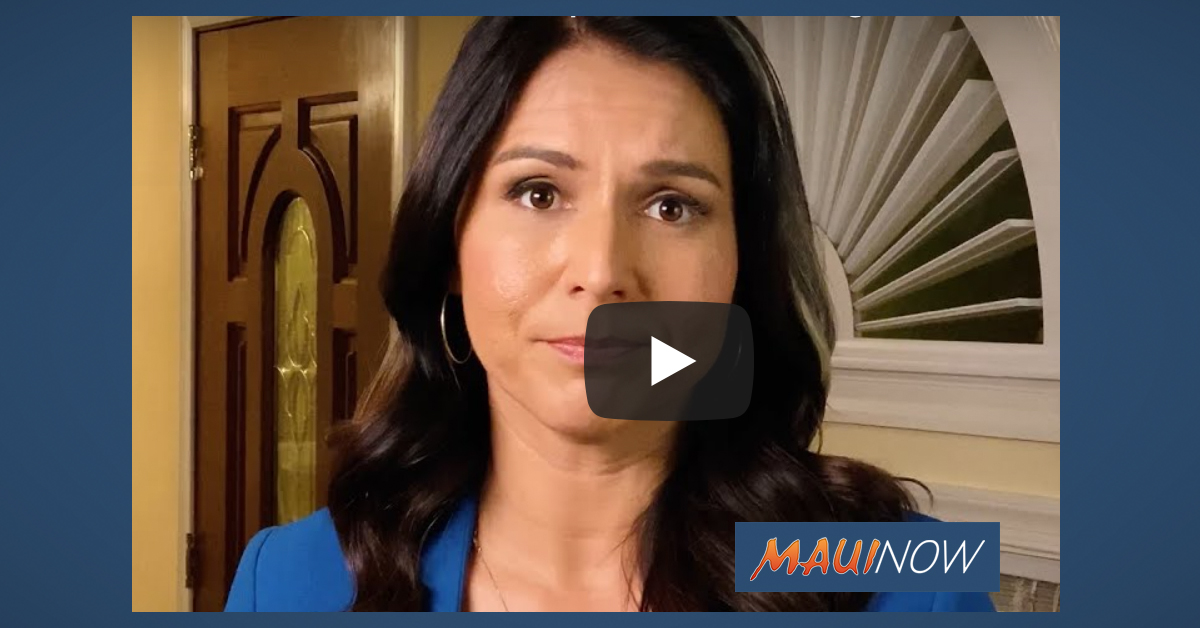 Update: Gabbard Says Hawaiʻi Could Start COVID-19 Testing Next Week