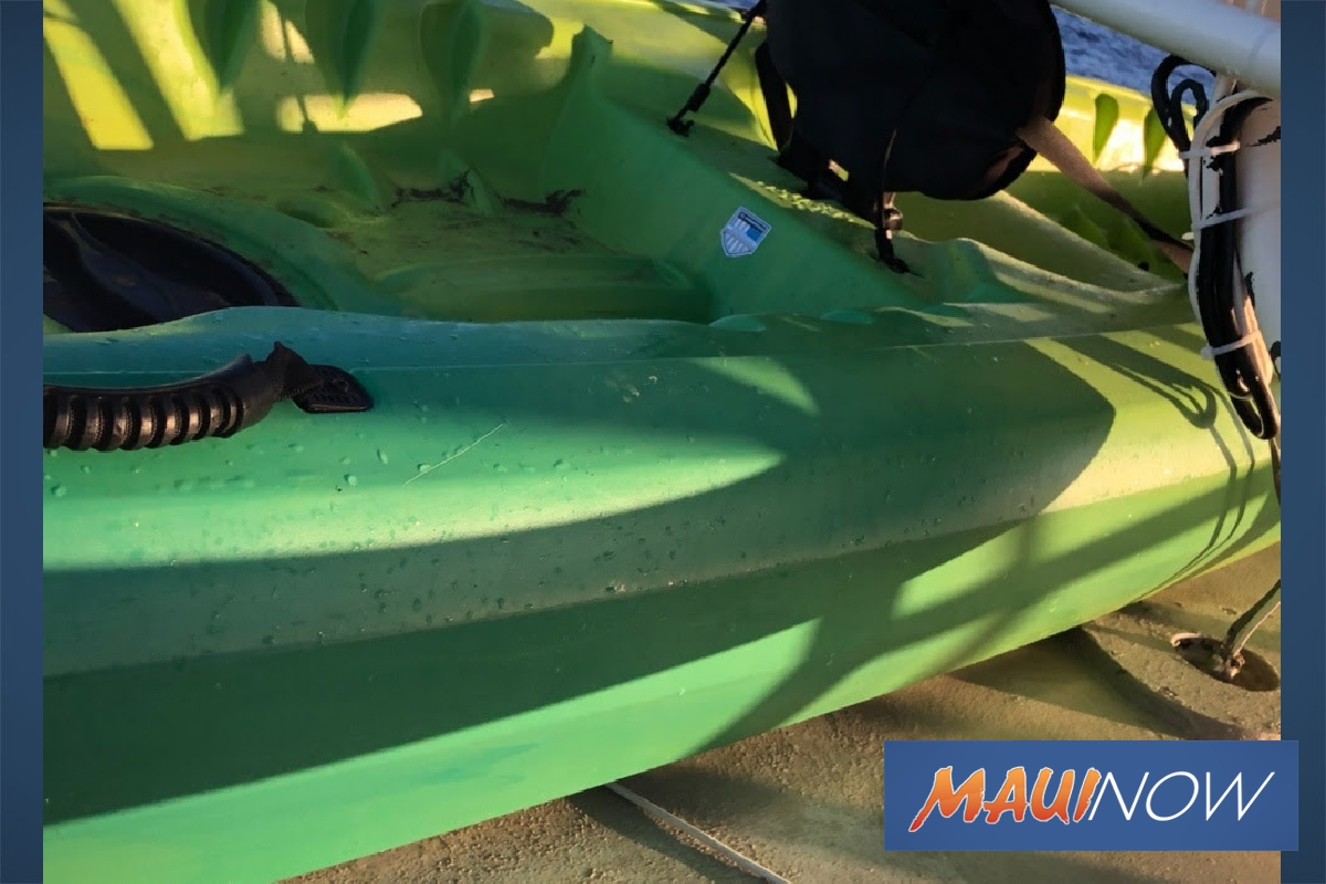 A Kayak Found in West Maui Waters Needs to be Claimed