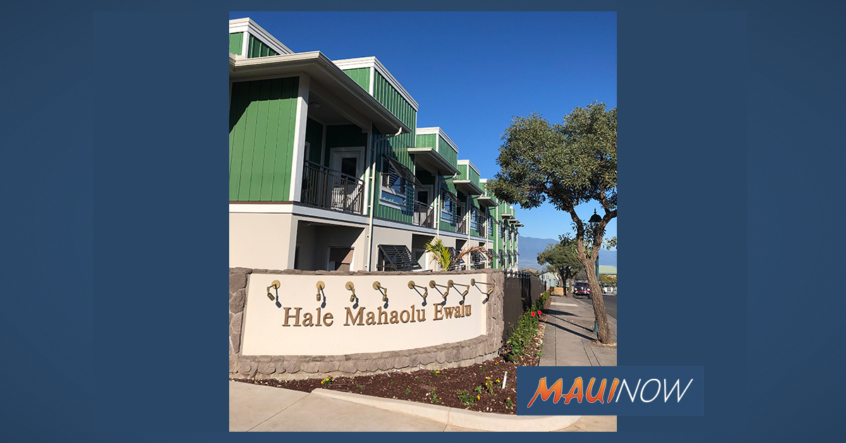 Application Period Opening for Hale Mahaolu Ewalu II Senior Housing in Pukalani
