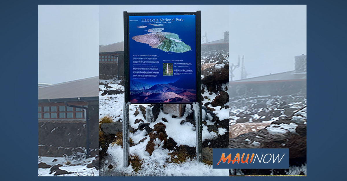 Winter Weather Advisory Extended for Haleakalā Summit