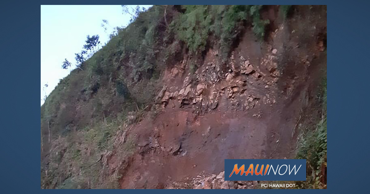 Hāna Highway Rock Removal Continues on Monday