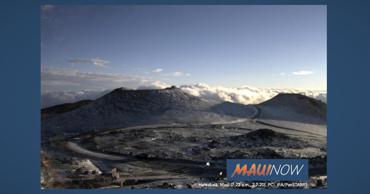 Icy, Windy Weather in Forecast For Haleakalā