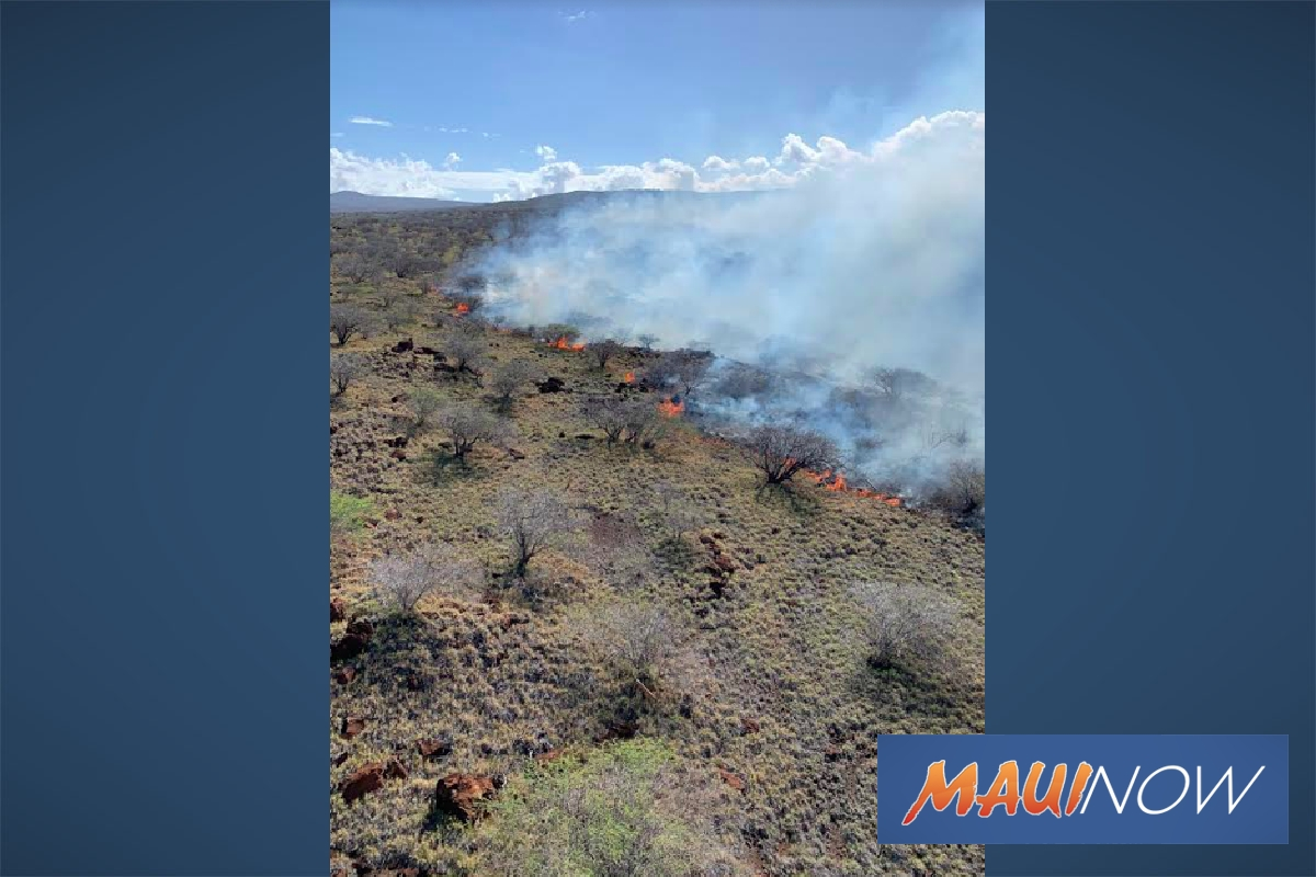 Active Kahoʻolawe Fire Chars More Than 6,000 Acres