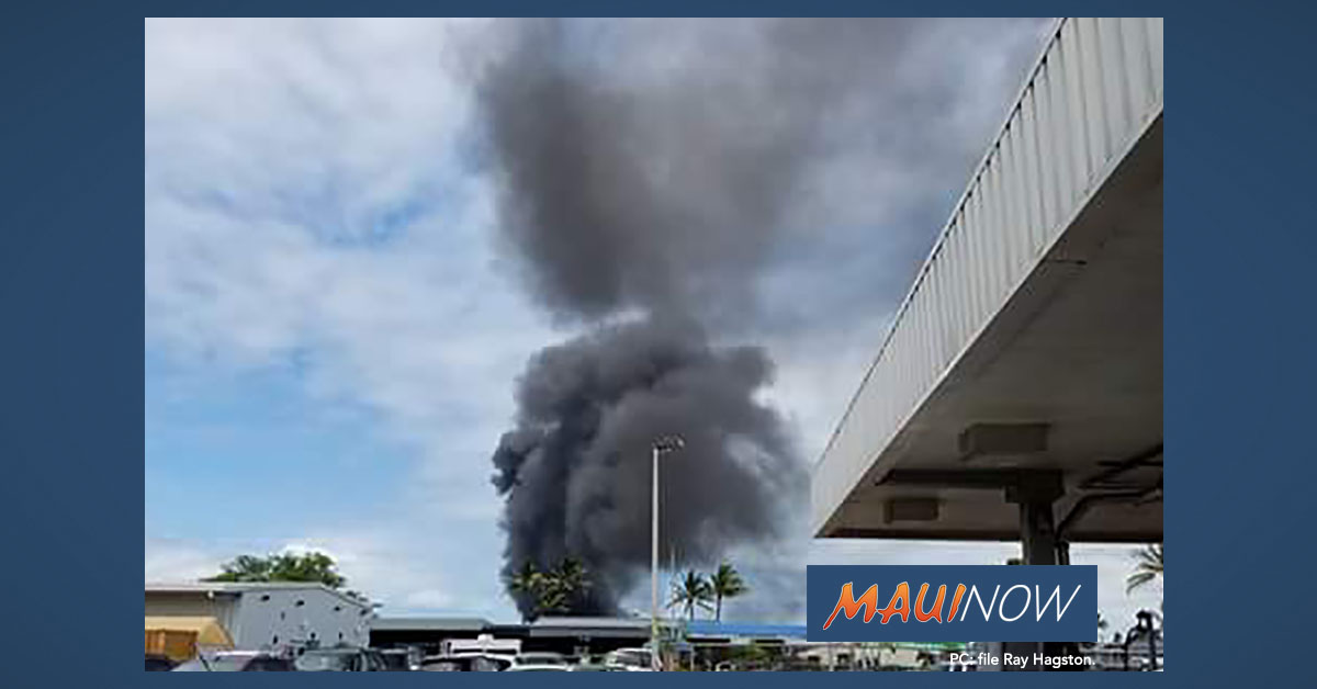 Live Fire Training at Kahului Airport: 10:30 a.m. to 12 p.m.